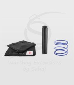 20 cm black extension + blue spring + small hoodies set