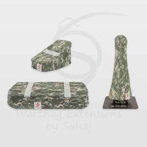 Warthog dust covers by SAHAJ (15 cm – 20 cm extended Warthog Grey Camo Large Set)
