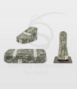 Warthog dust covers by SAHAJ (7,5 cm – 10 cm extended Warthogs Grey Camo Large Set)
