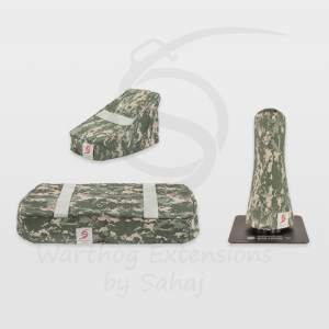 Warthog dust covers by SAHAJ (7,5 cm – 10 cm extended Warthogs Grey Camo Large Set)