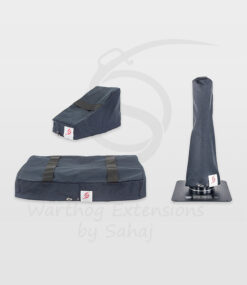 Warthog dust covers by SAHAJ (15 cm – 20 cm extended Warthog Black Large Set)