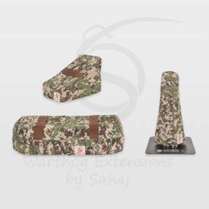 Warthog dust covers by SAHAJ (7,5 cm – 10 cm extended Warthogs Brown Camo Large Set)