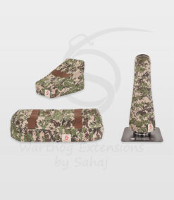 Warthog dust covers by SAHAJ (15 cm – 20 cm extended Warthog Brown Camo Large Set)