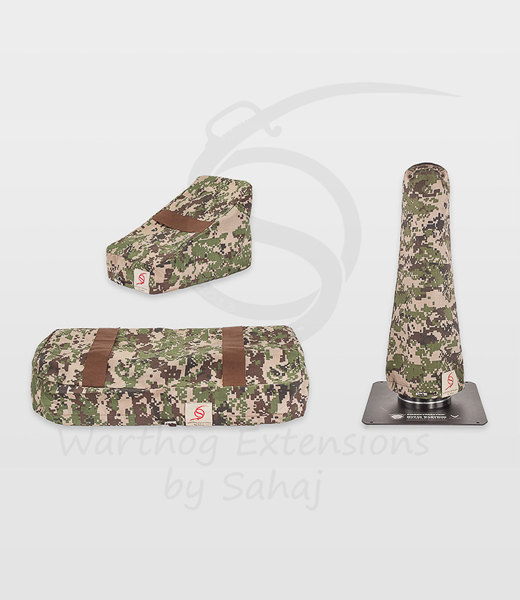 Warthog dust covers by SAHAJ (15 cm – 20 cm extended Warthog Brown Camo Large Set)