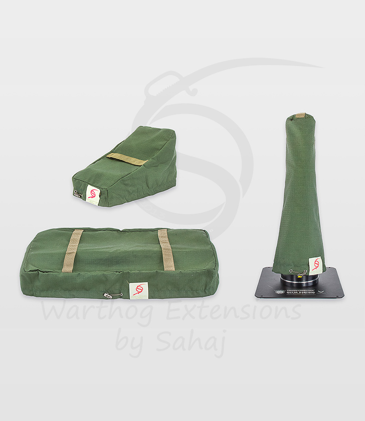 Warthog dust covers by SAHAJ (15 cm – 20 cm extended Warthog Military Green Large Set)