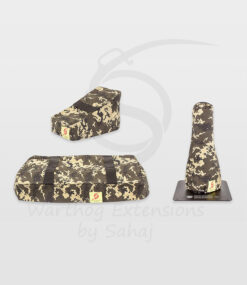 Warthog dust covers by SAHAJ (7,5 cm – 10 cm extended Warthogs Yellow Camo Large Set)