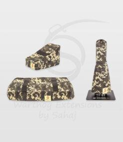 Warthog dust covers by SAHAJ (15 cm – 20 cm extended Warthog Yellow Camo Large Set)