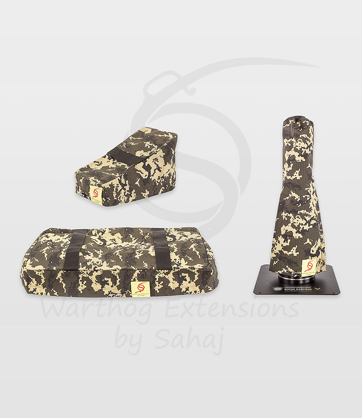 Warthog dust covers by SAHAJ (15 cm – 20 cm extended Warthog Yellow Camo Large Set)