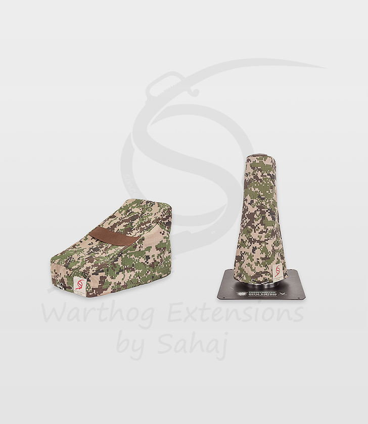 Warthog dust covers by SAHAJ (7,5 cm – 10 cm extended, brown camo small set)
