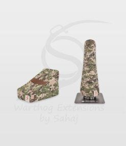 Warthog dust covers by SAHAJ (15 cm – 20 cm extended, brown camo small set)