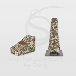 Warthog dust covers by SAHAJ (15 cm – 20 cm extended, brown camo small set)