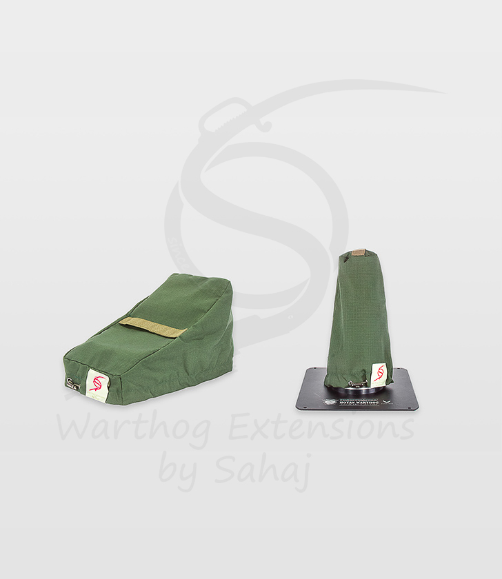 Warthog dust covers by SAHAJ (small set NOT extended, military green)