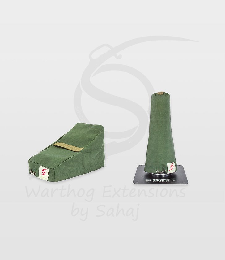 Warthog dust covers by SAHAJ (7,5 cm – 10 cm extended, military green small set)