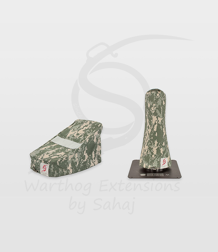 Warthog dust covers by SAHAJ (7,5 cm – 10 cm extended, grey camo small set)