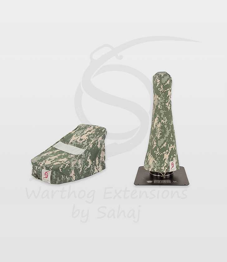 Warthog dust covers by SAHAJ (15 cm – 20 cm extended, grey camo small set)