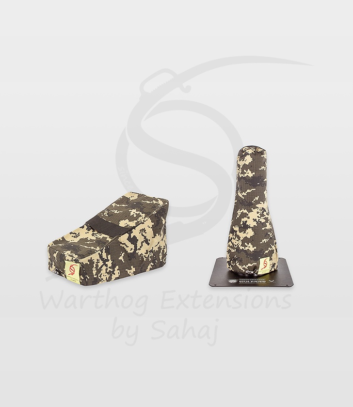 Warthog dust covers by SAHAJ (small set yellow for 7,5 to 10cm extension)
