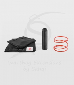 15 cm black extension + red spring + small hoodies set